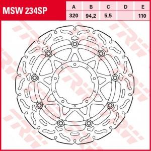 Racing brake disc MSW234SP