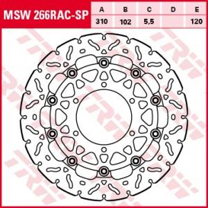 Racing brake disc MSW266RAC-SP