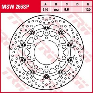Racing brake disc MSW266SP